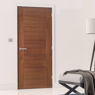Image: Seville Walnut Prefinished Fire Door - 1/2 Hour Fire Rated
