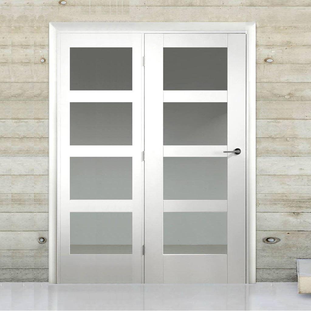 Easi-Frame White Door Set - GWPSHA4L-COEOP40L - 2005mm Height - 1736mm Wide.