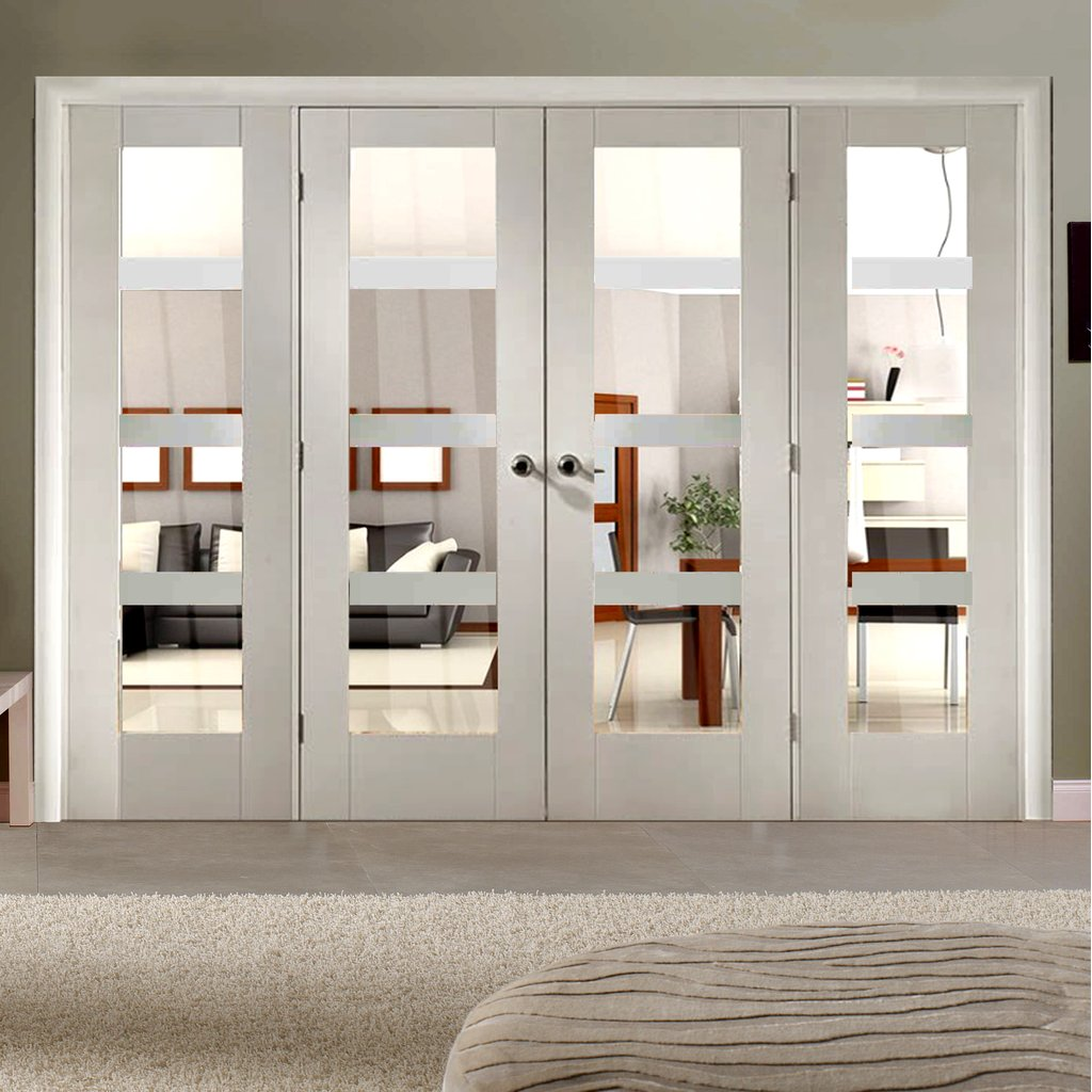 Easi-Frame White Door Set - GWPSHA4L-COEOP6 - 2005mm Height - 2824mm Wide.