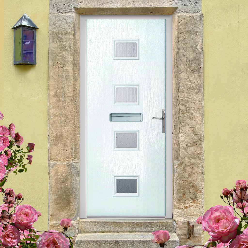 Siena Composite Door - Stippolyte Obscure Glass