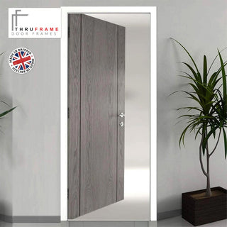 Image: Thruframe Interior White Primed MDF Door Lining Frame - Suits Single Doors