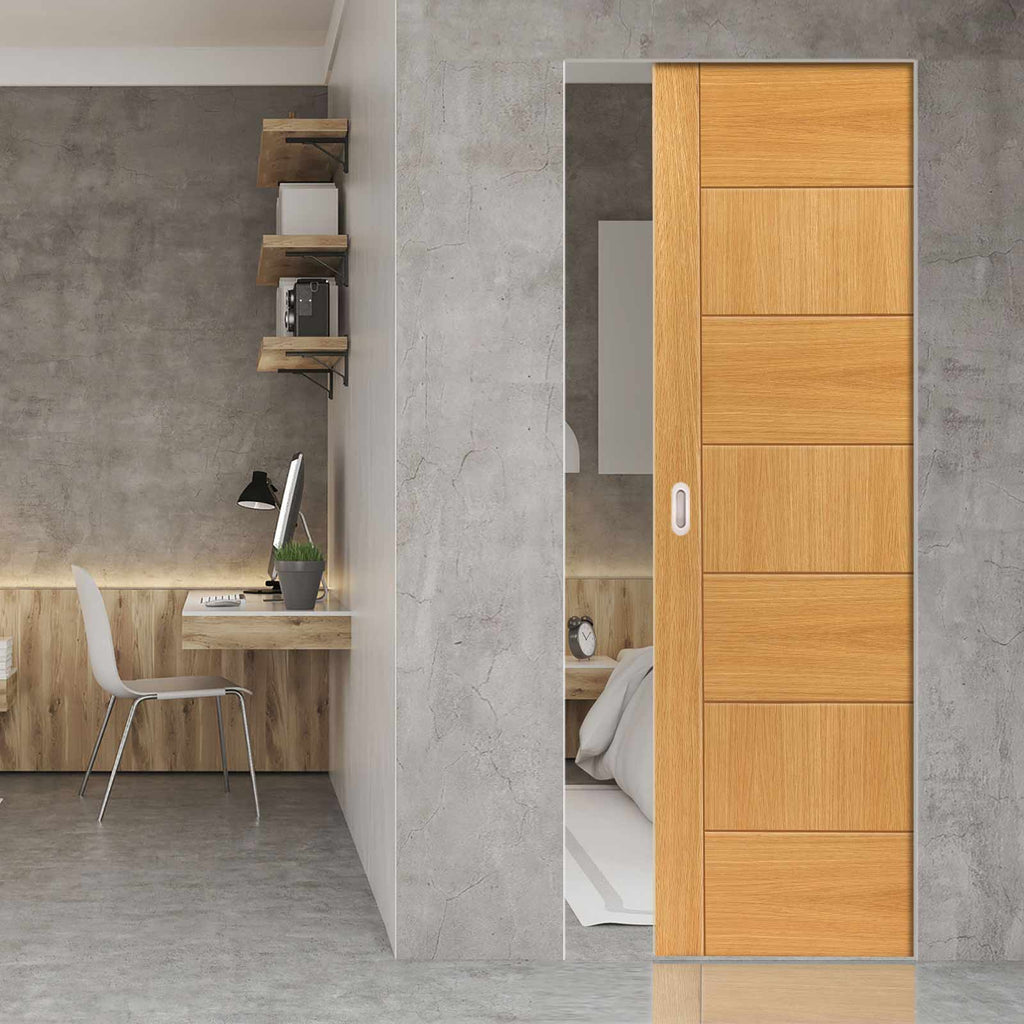 Sirocco Oak Absolute Evokit Pocket Door - Prefinished