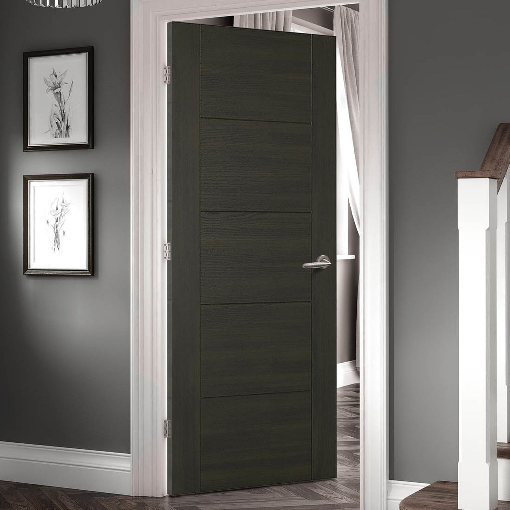 Vancouver Smoked Oak Flush Internal Doors - 30 Minute Fire Rated - Prefinished