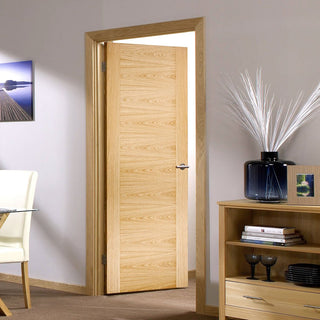 Image: LPD Joinery Sofia Oak Fire Door - 1/2 Hour Fire Rated - Prefinished