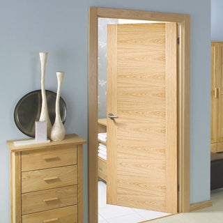 Image: Bespoke Sofia Oak Flush Door - Prefinished