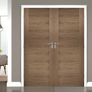 Image: Sofia Walnut Veneer Door Pair - Prefinished