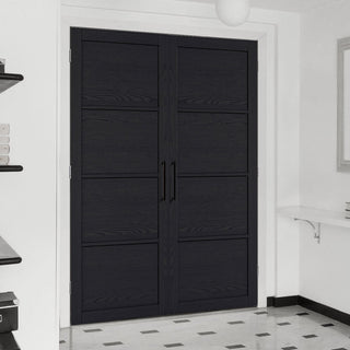 Image: Soho 4 Panel Charcoal Door - Prefinished