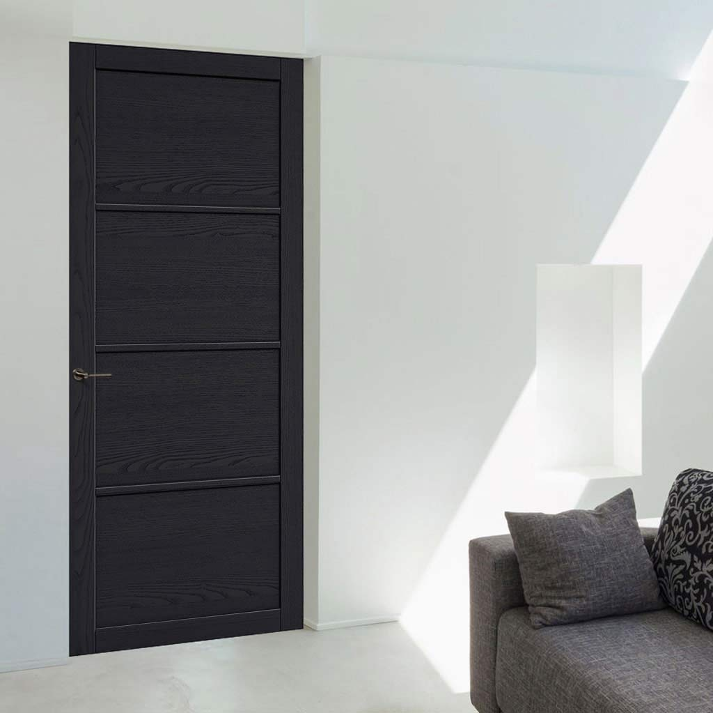 Soho 4 Panel Charcoal Door - Prefinished