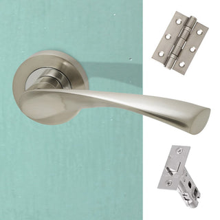 Image: Solar Handle Pack - Polished Chrome - Satin Nickel