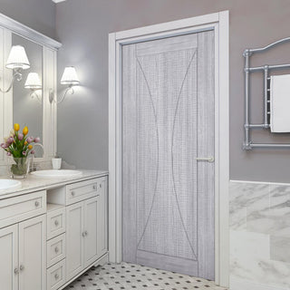 Image: Sorrento Prefinished Light Grey Ash Door
