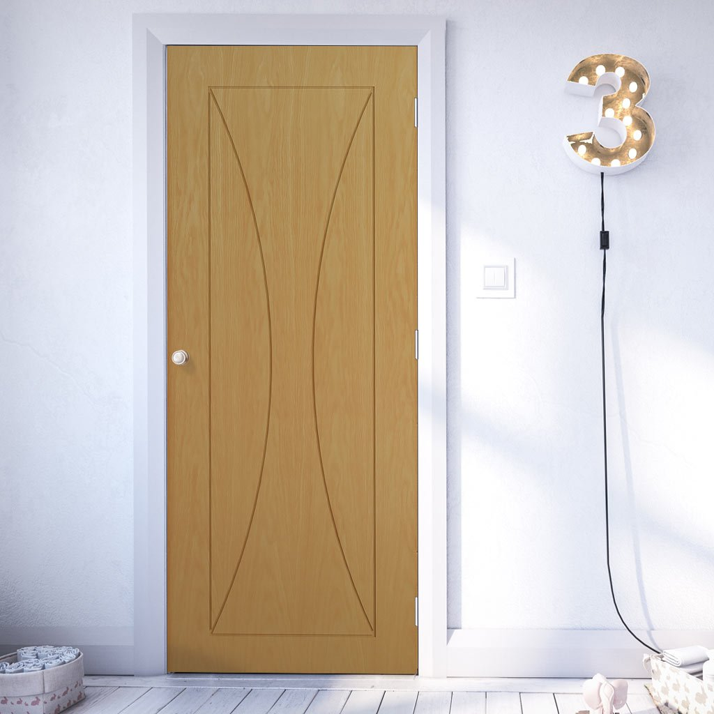 Sorrento Oak Fire Door - 1/2 Hour Fire Rated - Prefinished