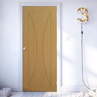 Image: Sorrento Oak Fire Door - 1/2 Hour Fire Rated - Prefinished