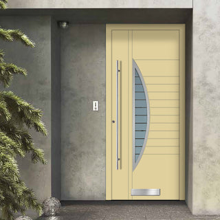 Image: External Spitfire Aluminium S-200 Door - 1762 CNC Grooves & Stainless Steel - 7 Colour Options