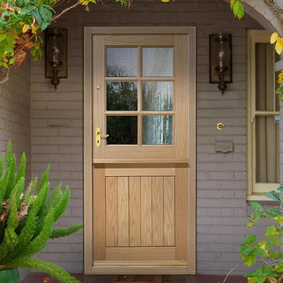 Image: Stable 6L Oak Door - Clear Double Glazing