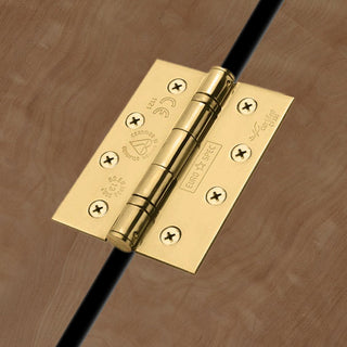 Image: 102x76mm Stainless Brass: Stainless Brass Class 13 Hinge, also suits fire doors.