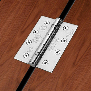 Image: 102x76mm Bright Stainless Steel: Stainless Steel Class 13 Hinge, also suits fire doors.
