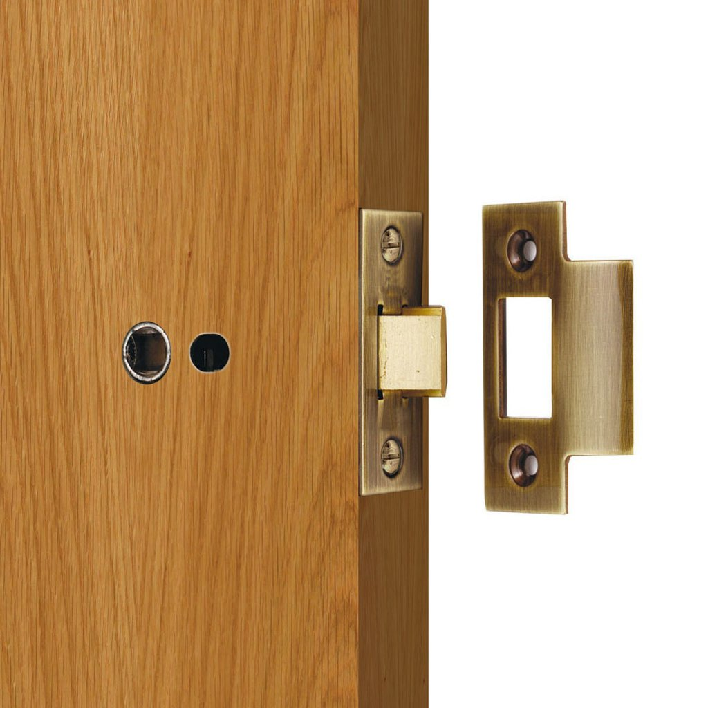 Standard Tubular Latch, 65mm - 75mm for Internal Doors - 2 Sizes and 2 Finishes