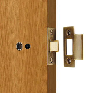 Image: Standard Tubular Latch, 65mm - 75mm for Internal Doors - 2 Sizes and 2 Finishes