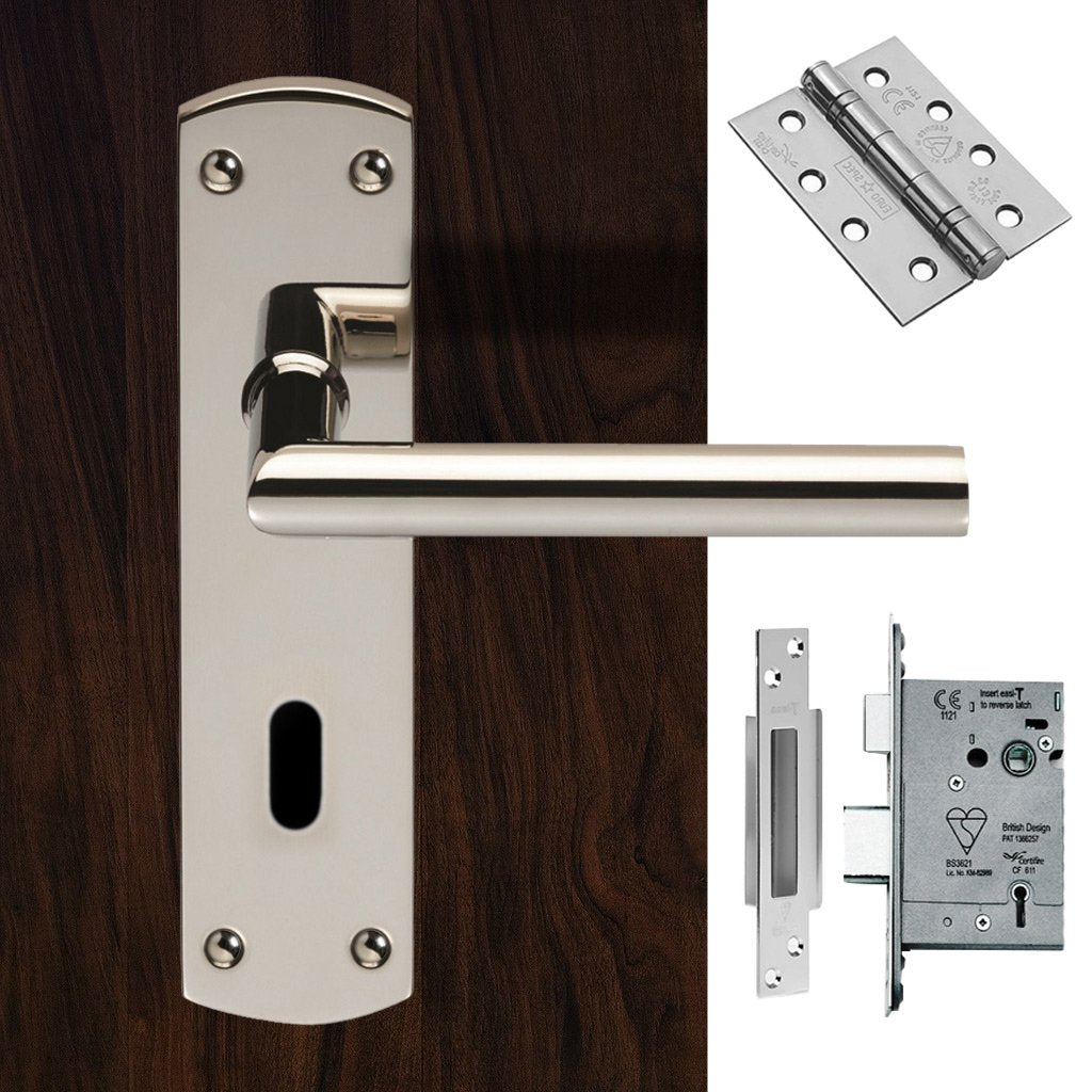 Steelworx CSLP1162P/BSS Mitred Lever Lock Polished Stainless Steel Handle Pack