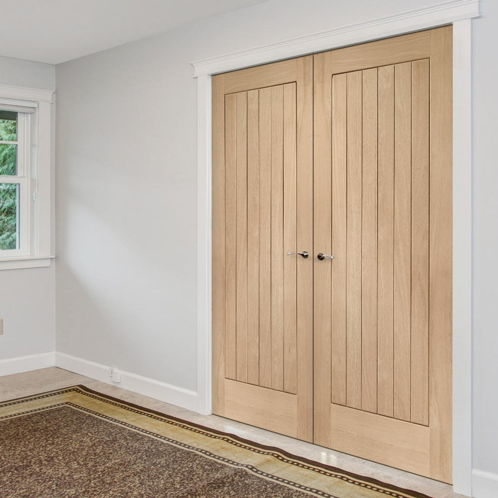 Suffolk Oak Door Pair - Prefinished