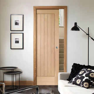 Image: Suffolk Oak Single Evokit Pocket Door