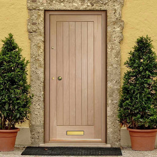 Image: Suffolk Oak Door - Vertical Lining