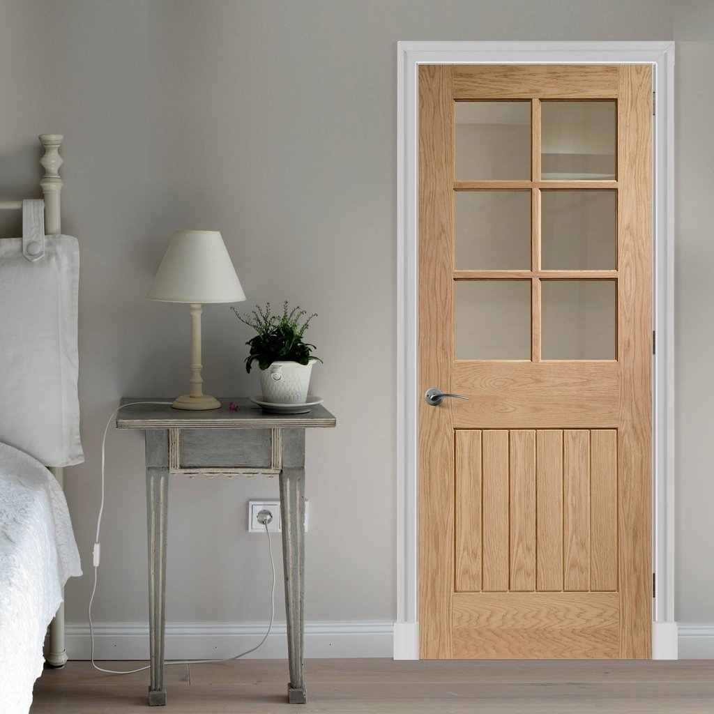 Bespoke Suffolk Oak 6L Glazed Door - Prefinished