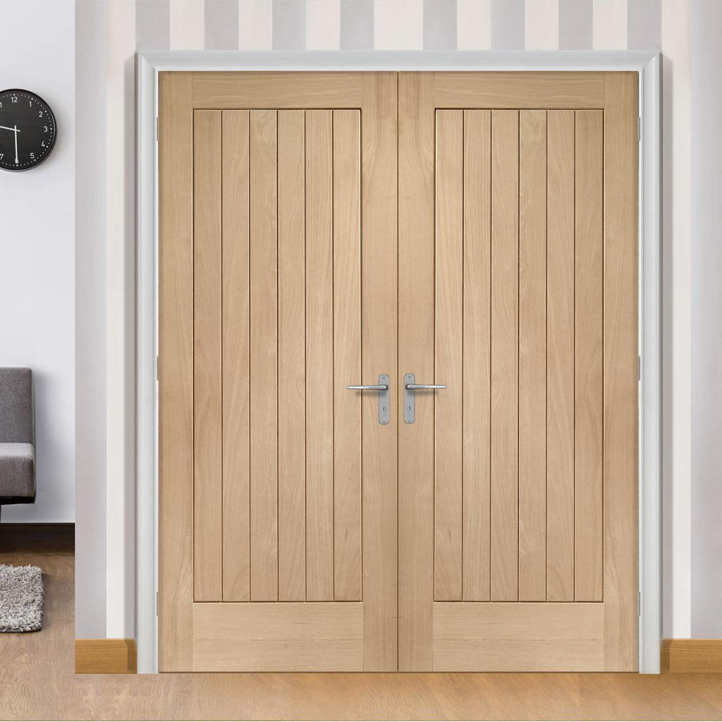 Suffolk Oak Flush Door Pair