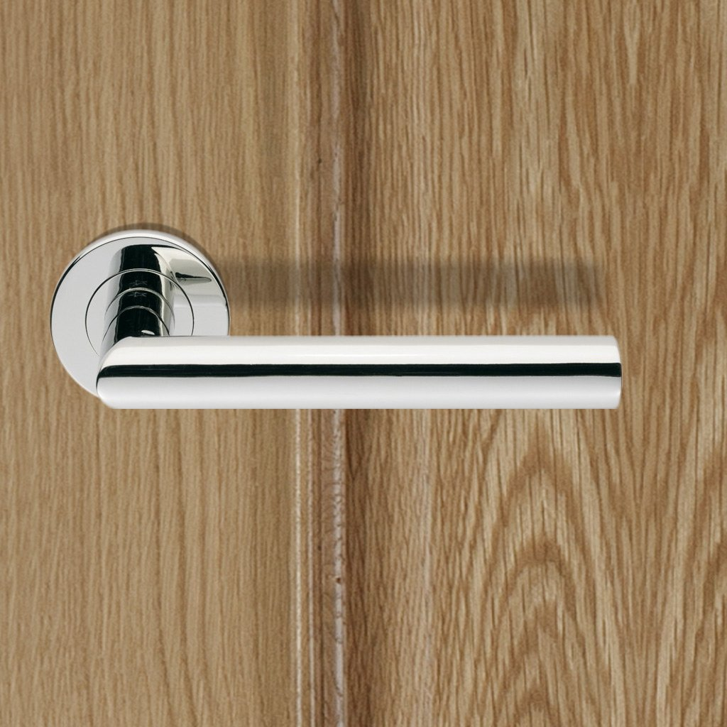 Steelworx SW13 Lever Latch Handles on Concealed Bearing Rose - 2 Finishes