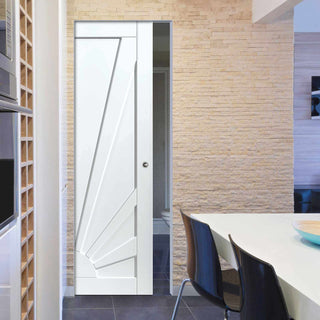 Image: Calypso Aurora Shaker Absolute Evokit Pocket Door - White Primed