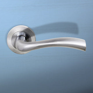 Image: Texas Status Lever on Round Rose - Satin Chrome