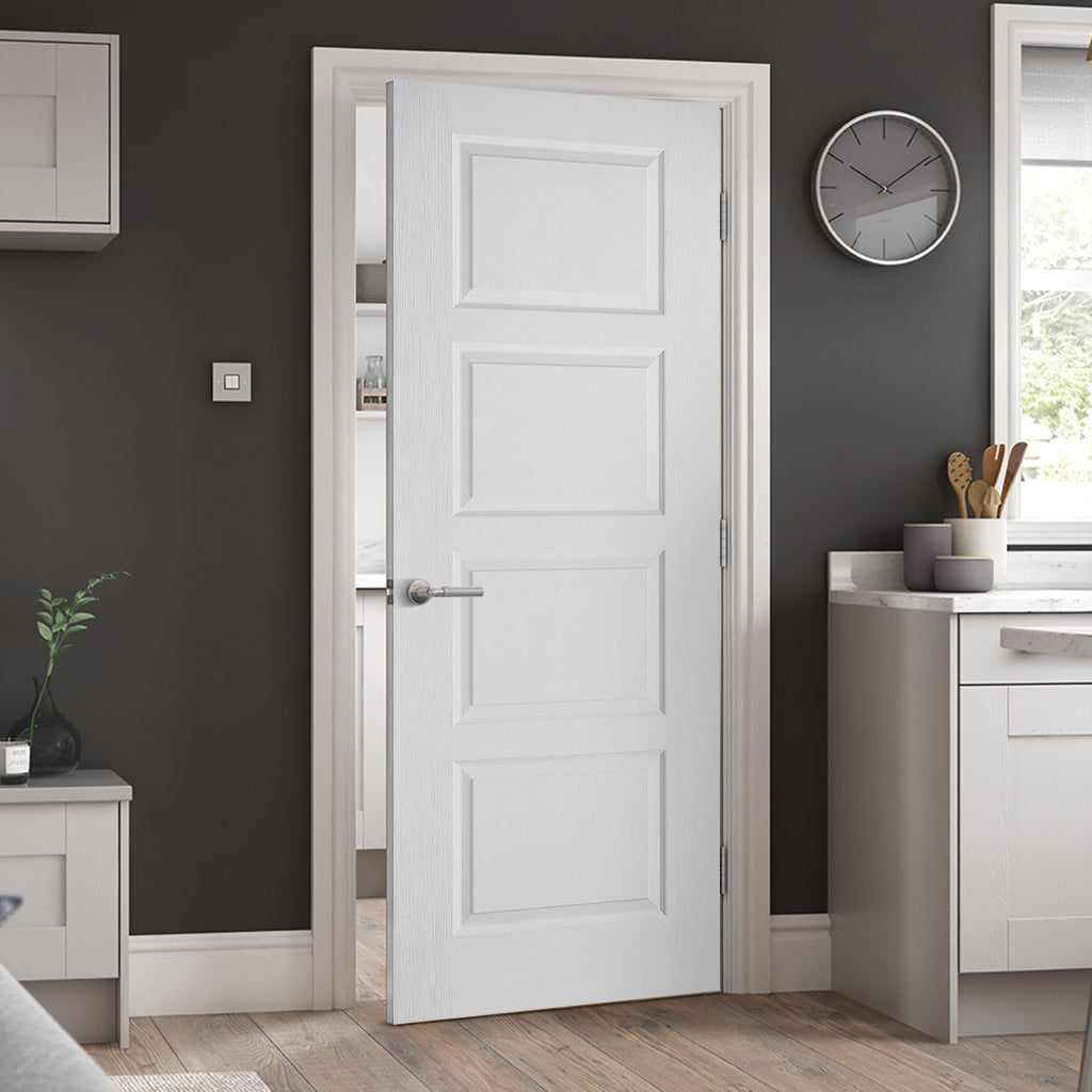 Textured Contemporary Door White Primed