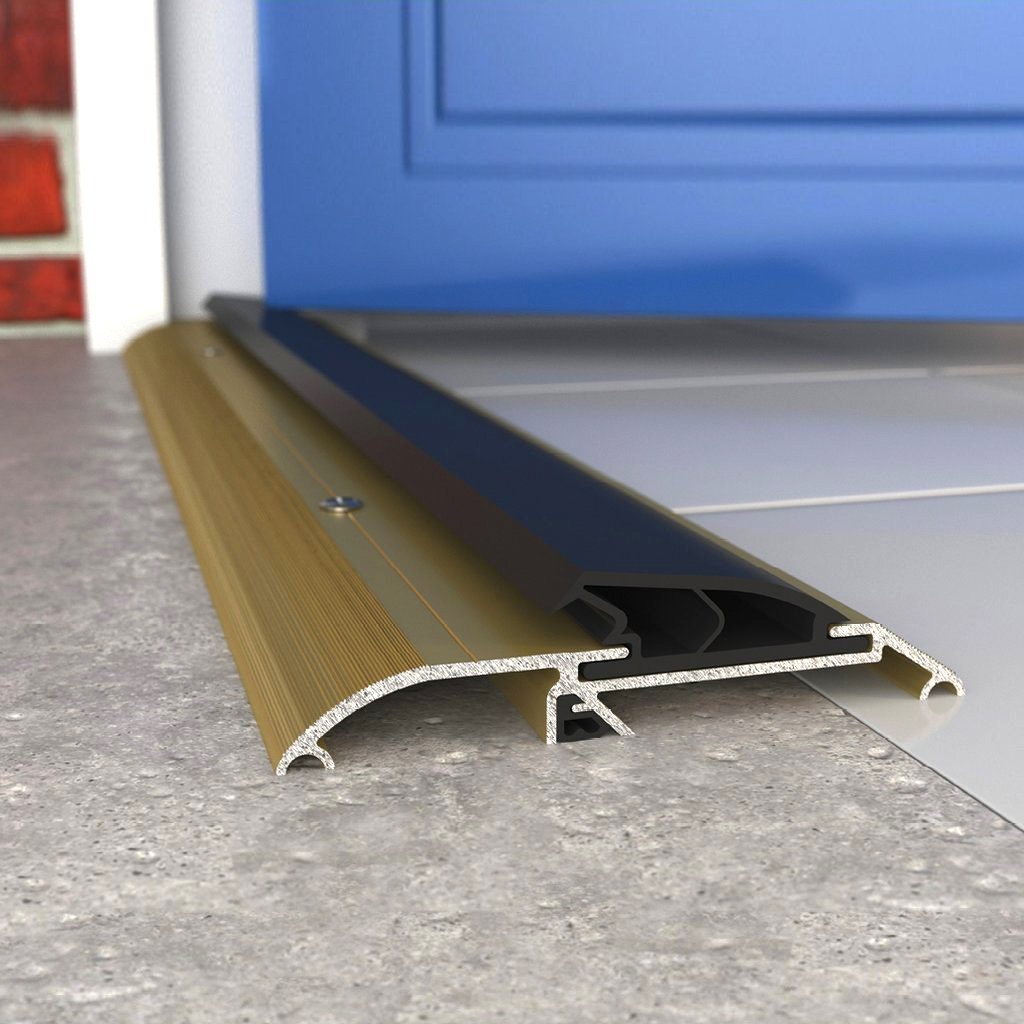 Exitex Threshex Draught Excluder - For Wheelchair Access - 3 Sizes and 2 Finishes