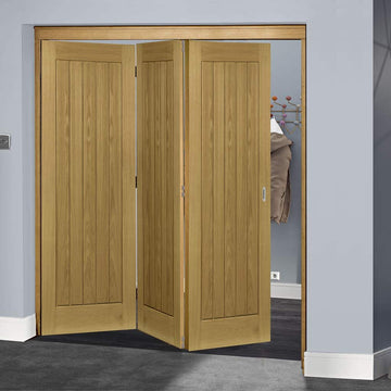 Delicieux Thrufold Ely Oak 3+0 Folding Door   Unfinished