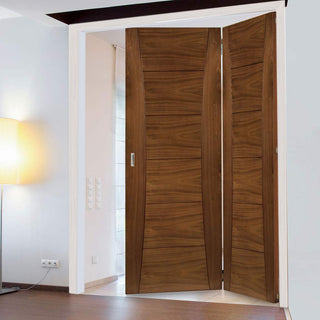 Image: Thrufold Pamplona Walnut 2+0 Folding Door - Prefinished