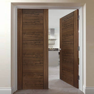 Image: Tigris Walnut Veneered Door Pair - Prefinished