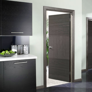 Image: Black colour interior door from LPD Joinery