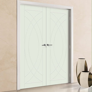 Image: Prefinished Treviso Flush Door Pair - Choose Your Colour