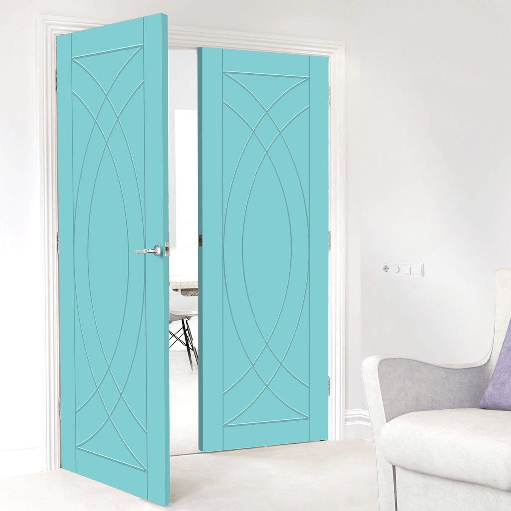 Prefinished Bespoke Treviso Flush Door Pair - Choose Your Colour