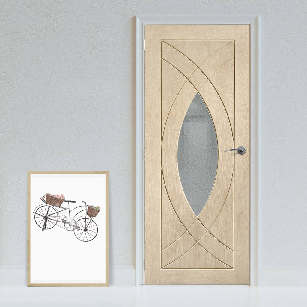 Designer varnished interior door in five colour options