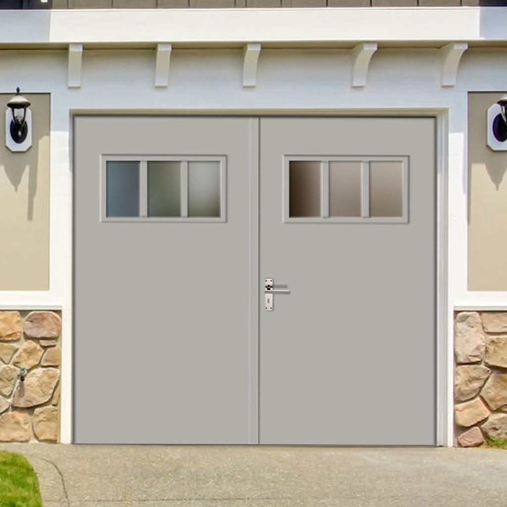 External Bespoke 44mm TriComfort WK3611 Garage Doors - Glass Options