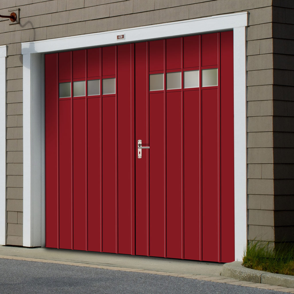 External Bespoke 44mm TriComfort WK3661 Garage Doors - Glass Options