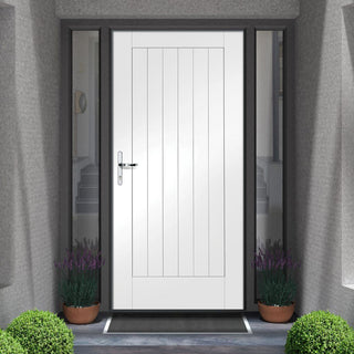 Image: Tricoya White Primed Suffolk External Composite Door