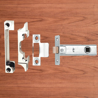 Image: Tubular Latch Rebated, 65mm for Internal Double Doors - 2 Finishes
