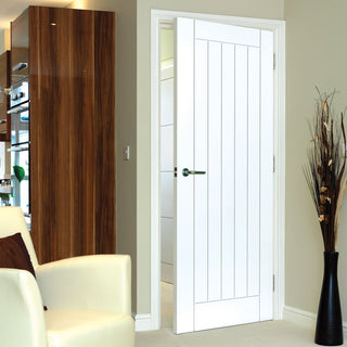 Image: Limelight Savoy Fire Door - White Primed - 1/2 Hour Fire Rated