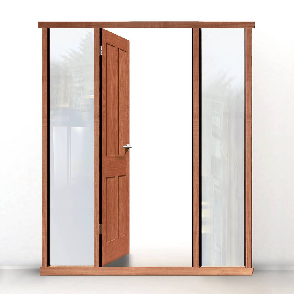 External LPD Universal Hardwood Door Frame - Shown with Twin Side Apertures