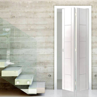 Image: JBK Tigris White Bifold Door, Prefinished
