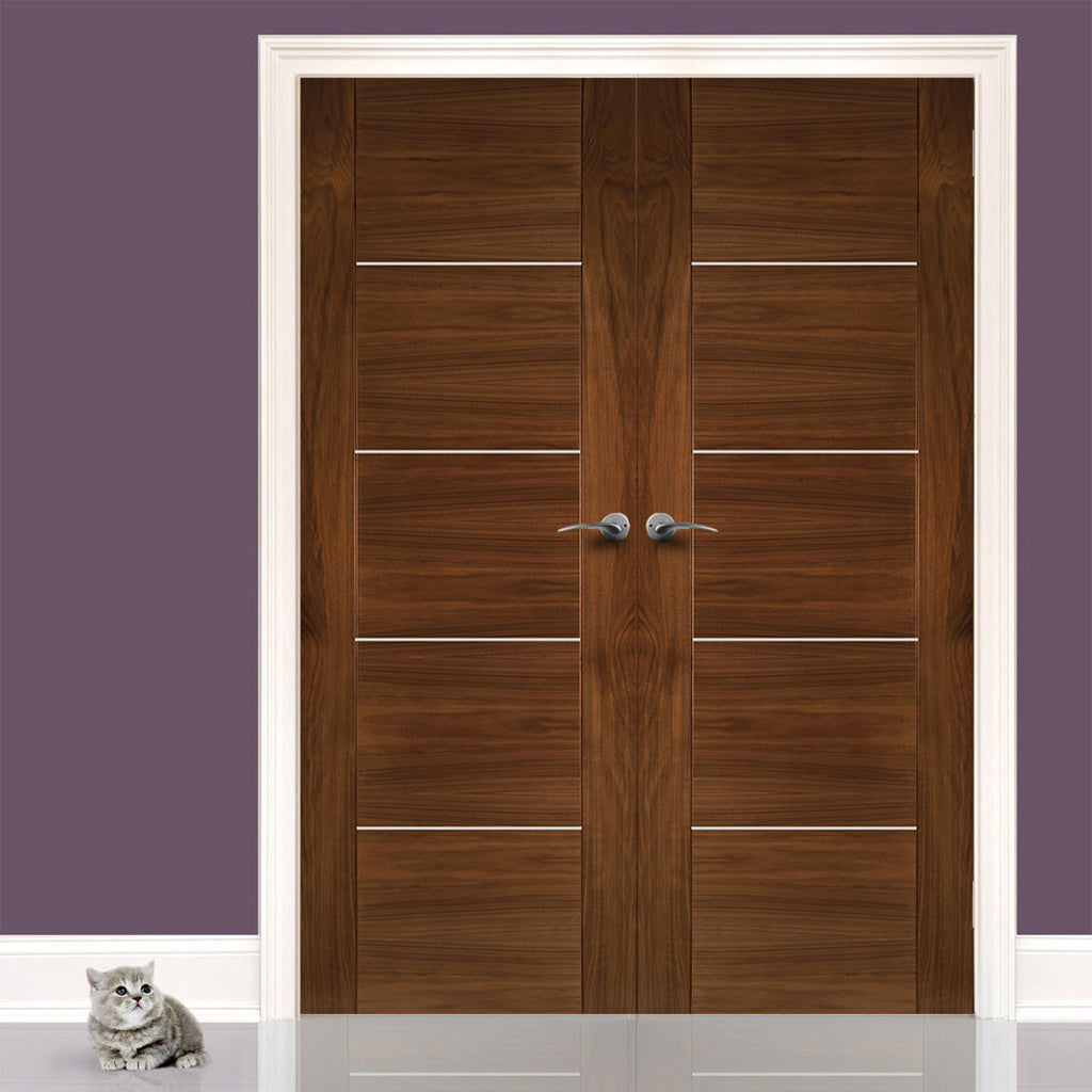 Valencia Walnut Door Pair - Prefinished