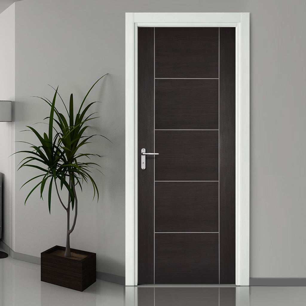 Laminate Vancouver Dark Grey Fire Door - 1/2 Hour Fire Rated - Prefinished
