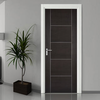 Image: Laminate Vancouver Dark Grey Fire Door - 1/2 Hour Fire Rated - Prefinished